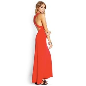 Forever 21 Red Maxi Dress